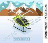 future transport isometric... | Shutterstock .eps vector #756816028