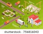 isometric building horizontal... | Shutterstock .eps vector #756816043