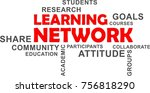 a word cloud of learning... | Shutterstock .eps vector #756818290