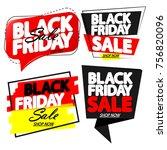 set black friday sale banners ... | Shutterstock .eps vector #756820096