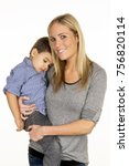 mother and son | Shutterstock . vector #756820114