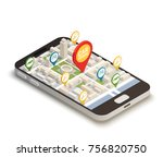 find car online abstract... | Shutterstock .eps vector #756820750