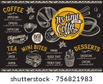 coffee drink menu for... | Shutterstock .eps vector #756821983
