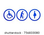 signs symbols of disabled ... | Shutterstock . vector #756833080