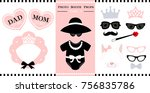 set of  photo booth printable... | Shutterstock .eps vector #756835786