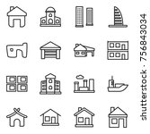 thin line icon set   home ... | Shutterstock .eps vector #756843034