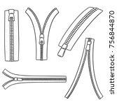 vector set of zip | Shutterstock .eps vector #756844870