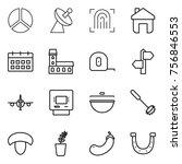 thin line icon set   diagram ... | Shutterstock .eps vector #756846553