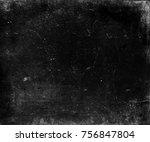 black scratched background ... | Shutterstock . vector #756847804
