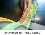 wooden ball roller rails for... | Shutterstock . vector #756848068