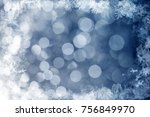 magic blue holiday abstract... | Shutterstock . vector #756849970