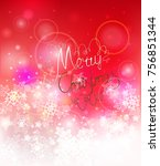 elegant christmas background... | Shutterstock .eps vector #756851344