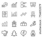 thin line icon set   diagram ... | Shutterstock .eps vector #756852079