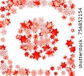 watercolor stars confetti.... | Shutterstock . vector #756852154