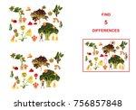 cartoon figures of vegetables... | Shutterstock . vector #756857848