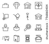 thin line icon set   shopping... | Shutterstock .eps vector #756860404