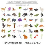 isometric 3d south america... | Shutterstock .eps vector #756861760