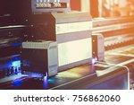 laser print machine. | Shutterstock . vector #756862060