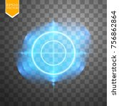neon target isolated. game...