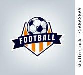 vector illustration of soccer... | Shutterstock .eps vector #756863869