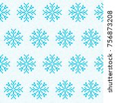 christmas decoration. snowflake ... | Shutterstock .eps vector #756873208