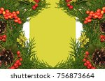 christmas background or xmas... | Shutterstock . vector #756873664