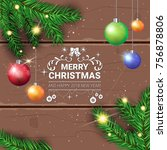 merry christmas flyer holiday... | Shutterstock .eps vector #756878806