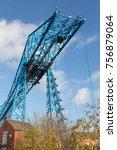 the transporter bridge over the ... | Shutterstock . vector #756879064