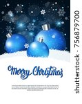 creative holiday poster merry... | Shutterstock .eps vector #756879700