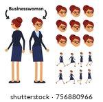 character is a businesswoman.... | Shutterstock .eps vector #756880966