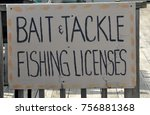 bait and tackle and fishing... | Shutterstock . vector #756881368
