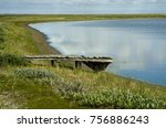 remains from an abandoned... | Shutterstock . vector #756886243