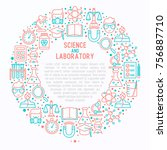 science and laboratory concept... | Shutterstock .eps vector #756887710