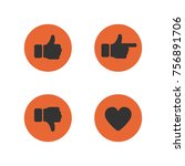 thumbs up and down  heart signs.... | Shutterstock .eps vector #756891706