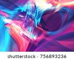 abstract liquid multicolor... | Shutterstock . vector #756893236