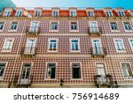 classic apartment building... | Shutterstock . vector #756914689