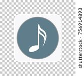 grey colored music note icon.... | Shutterstock .eps vector #756914893