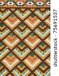 roof tiles on the matthias... | Shutterstock . vector #75691537