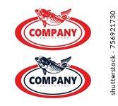 bass fish logo tamplate   Shutterstock .eps vector #756921730