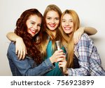 life style  happiness ... | Shutterstock . vector #756923899