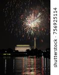 fourth of july fireworks in... | Shutterstock . vector #756925114