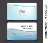 business card design set.... | Shutterstock .eps vector #756927064