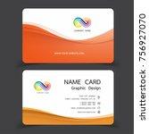 business card design set.... | Shutterstock .eps vector #756927070