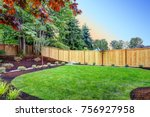 view of an attractive backyard... | Shutterstock . vector #756927958