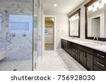 bright and airy master bathroom ... | Shutterstock . vector #756928030