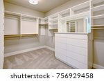 white walk in closet with... | Shutterstock . vector #756929458