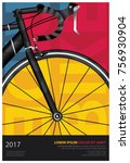 cycling poster vector... | Shutterstock .eps vector #756930904