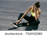 woman feeling tired after... | Shutterstock . vector #756932080