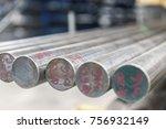 steel metal bars on pile  close ...   Shutterstock . vector #756932149
