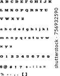 western font   vintage...   Shutterstock .eps vector #756932590